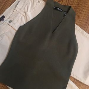 Valerie Stevens Sleeveless V-Neck Sweater Size SP